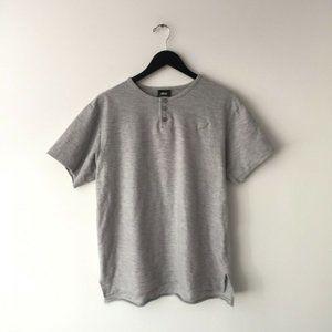 Publish Basic T Shirt Minimal Modern Tee Gray L